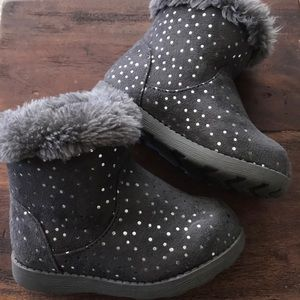 Toddler Gray winter boots